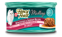 Fancy Feast® Whitefish & Shrimp Wet Cat Food With Rice & Spinach In Gravy