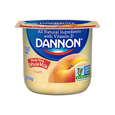 Dannon® Whole Milk Yogurt Peach