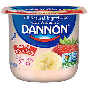 Dannon® Whole Milk Yogurt Strawberry Banana