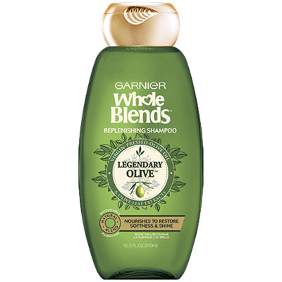 Garnier Whole Blends™ Replenishing Shampoo with Virgin Pressed Olive Oil & Olive Leaf Extracts