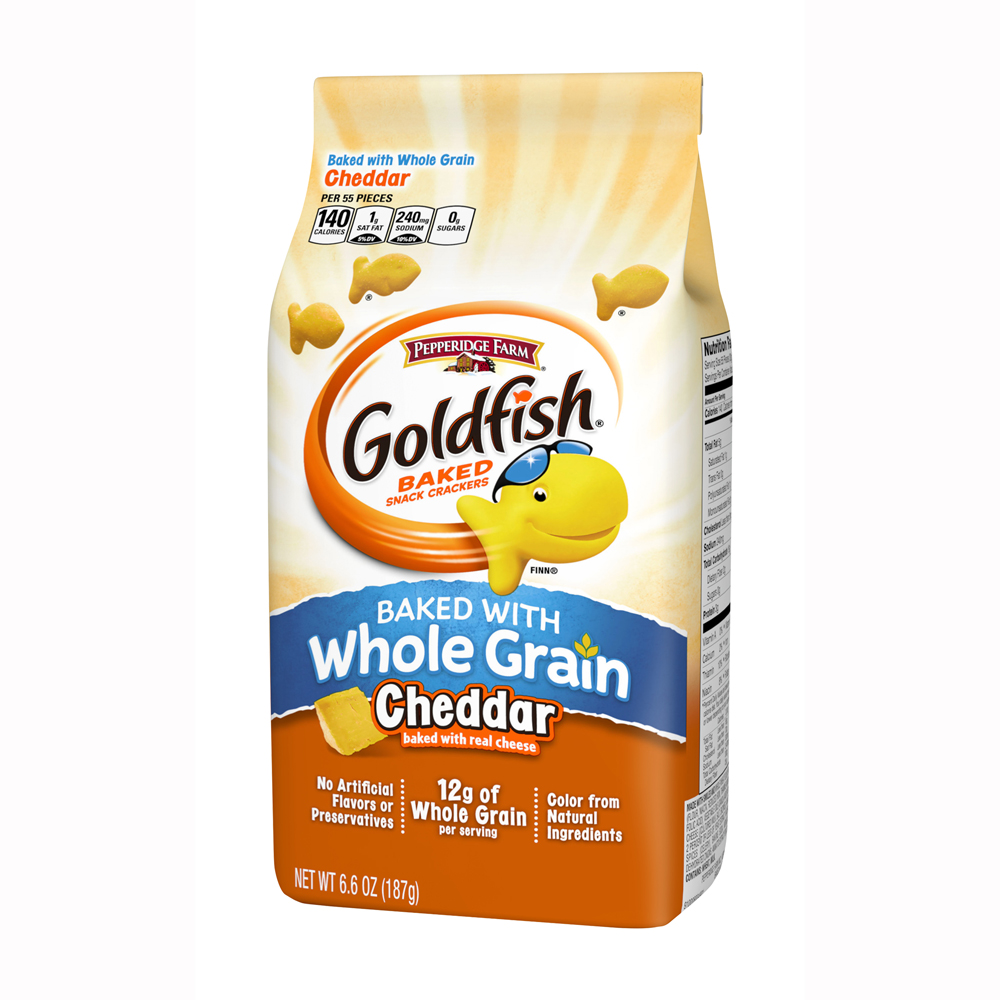 Goldfish® Cheddar Baked Snack Crackers Made With Whole Grain