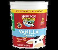 Horizon Whole Milk Vanilla Yogurt