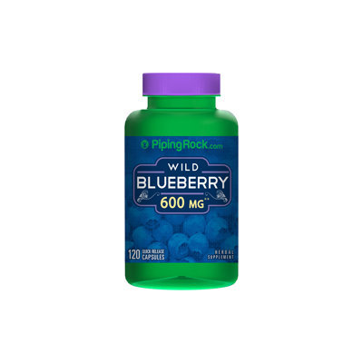 Piping Rock Wild Blueberry 120 Capsules 600mg