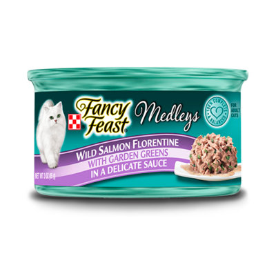 Fancy Feast® Wild Salmon Florentine Wet Cat Food With Garden Greens In A Delicate Sauce