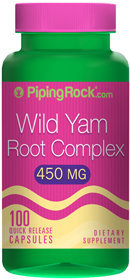 Piping Rock Wild Yam Root 450mg 100 Capsules