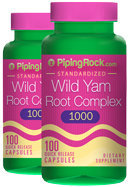 Piping Rock Wild Yam Root 450mg 2 Bottles x 100 Capsules