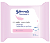 Johnson's® Face Care Daily Essentials Facial Cleansing Wipes