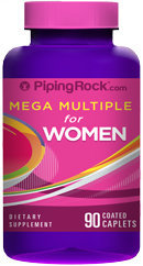 Piping Rock Woman's Mega Multi Vitamin 90 Coated Caplets