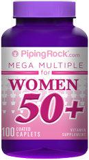 Piping Rock Woman's Mega Multi Vitamin 50 Plus 100 Coated Caplets