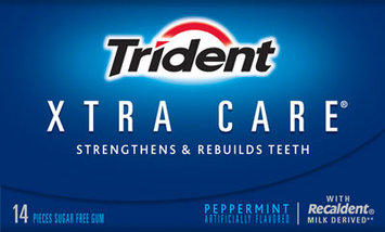 Trident Xtra Care® Peppermint Gum
