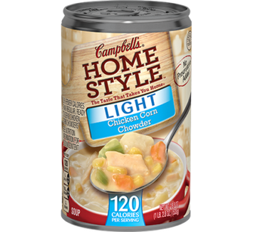 Campbell's® Home Style™ Light Chicken Corn Chowder Soup