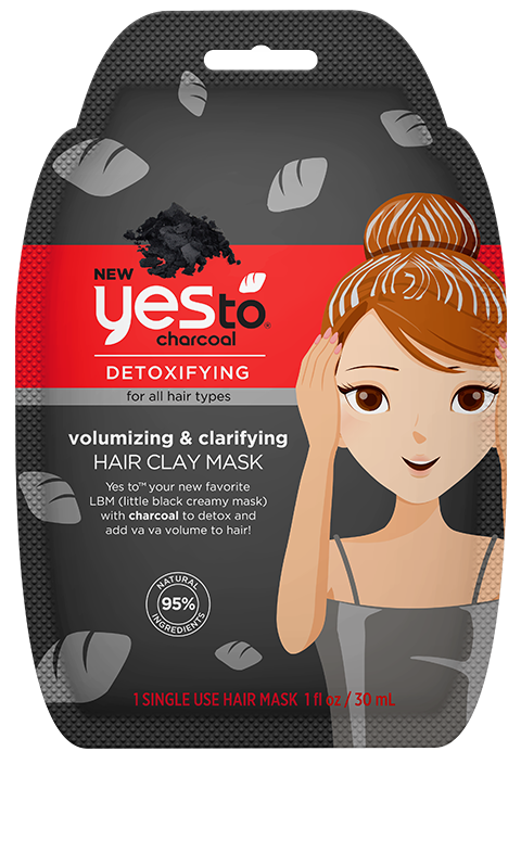 yes to charcoal Volumizing & Clarifying Hair Clay Mask