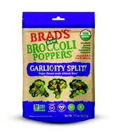 Brad's Raw Broccoli Poppers Garlic-ity Split!