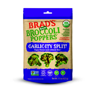 Brad's Raw Broccoli Poppers Garlic-ity Split!