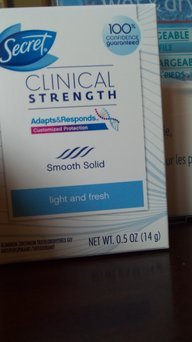 Photo of Secret Clinical Strength Smooth Solid Waterproof Antiperspirant/Deodorant uploaded by brandy d.