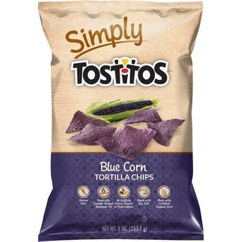 Tostitos Simply Natural Blue Corn Tortilla Chips uploaded by Lynda B.