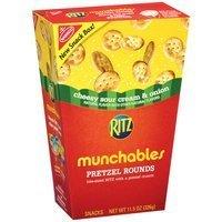 Nabisco Ritz Munchables Cheesy Sour Cream & Onion Pretzel Rounds, 11.5 oz uploaded by Amelia W.