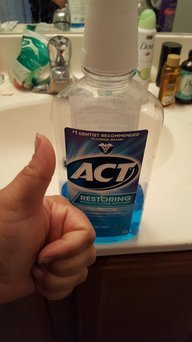 ACT Advanced Care Plaque Guard Frosted Mint Antiplaque Mouthwash uploaded by Janet S.