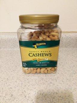 Planters Fancy Whole Cashews with Sea Salt uploaded by member-8fe42d91d