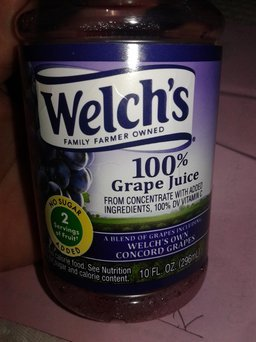 Welch's® 100% Black Cherry Concord Grape Juice uploaded by april c.
