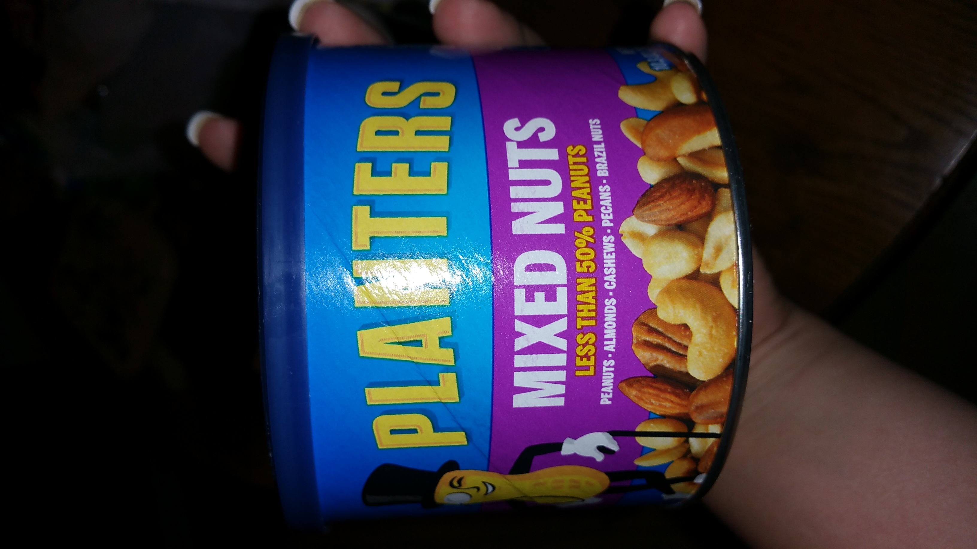 Planters Lightly Salted Mixed Nuts Can uploaded by Tristian M.