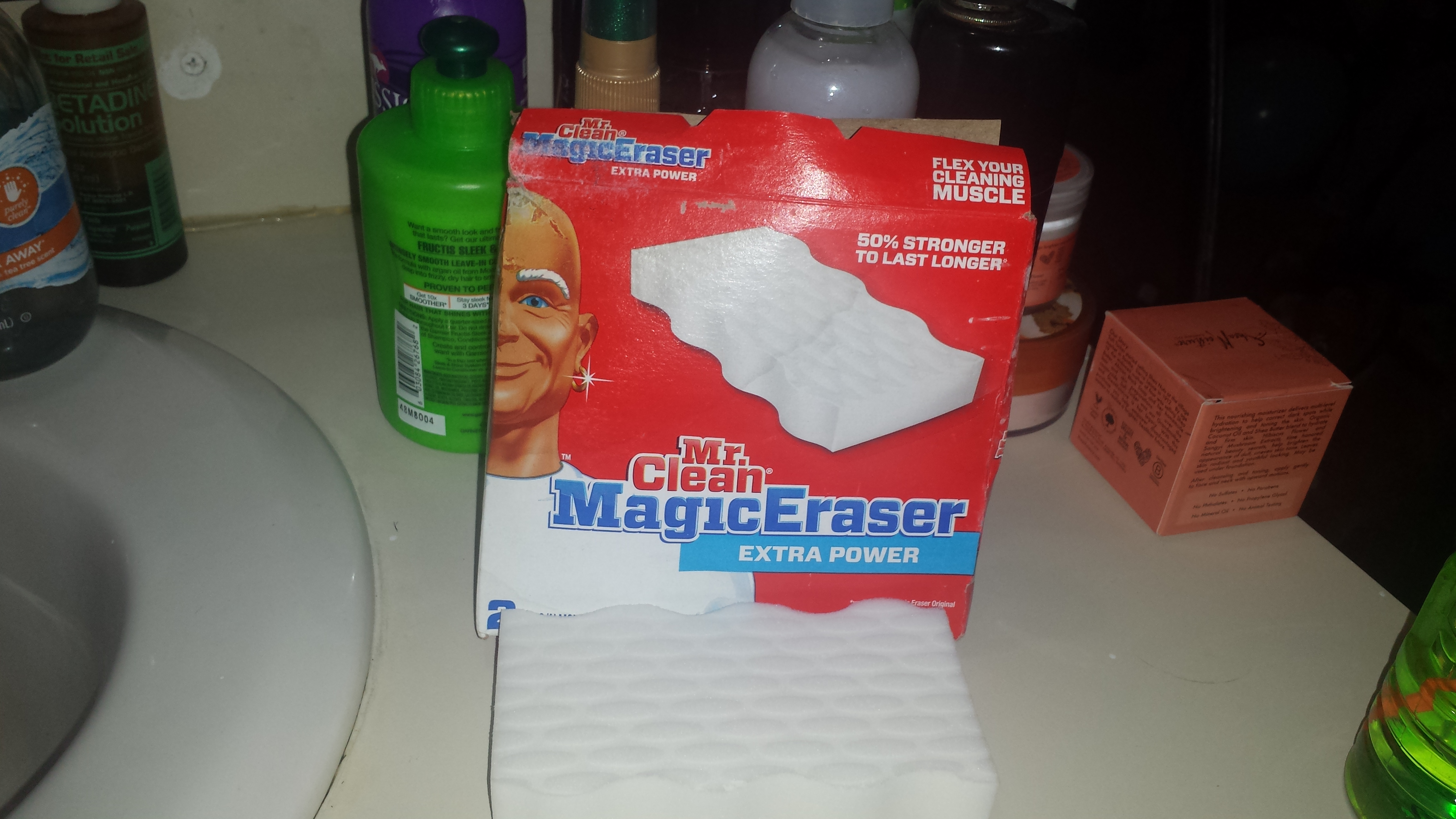 Photo of MR. CLEAN Extra Power Magic Eraser in White uploaded by Katie U.