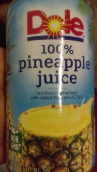 Dole® 100% Pineapple Juice 6 fl. oz. Can uploaded by Sonia G.