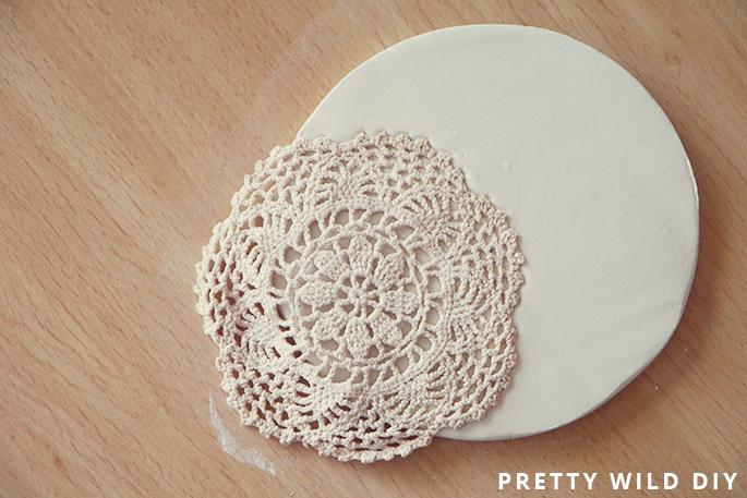 DIY Lace Print Bowl