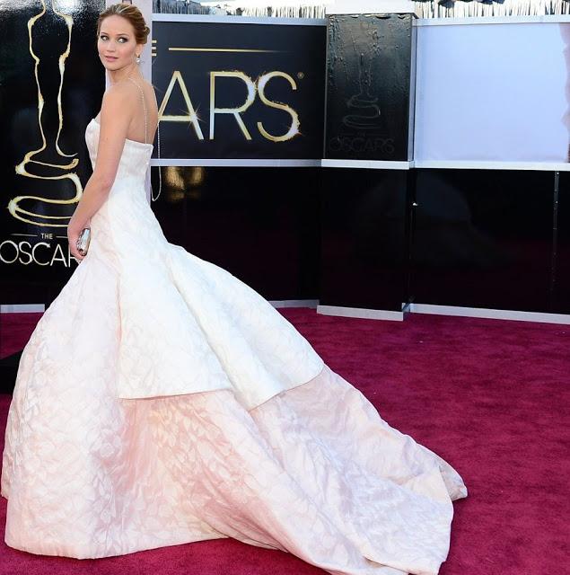 Jennifer Lawrence Oscar de la Renta