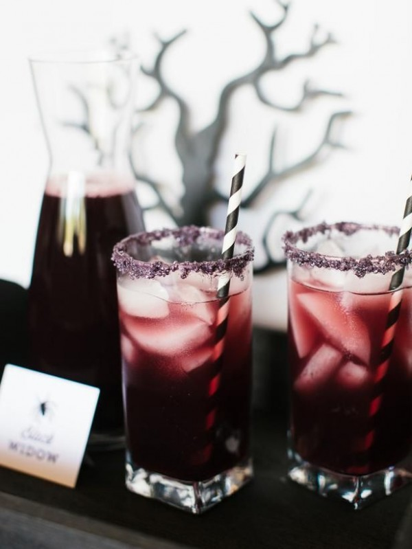 blackberry halloween cocktail