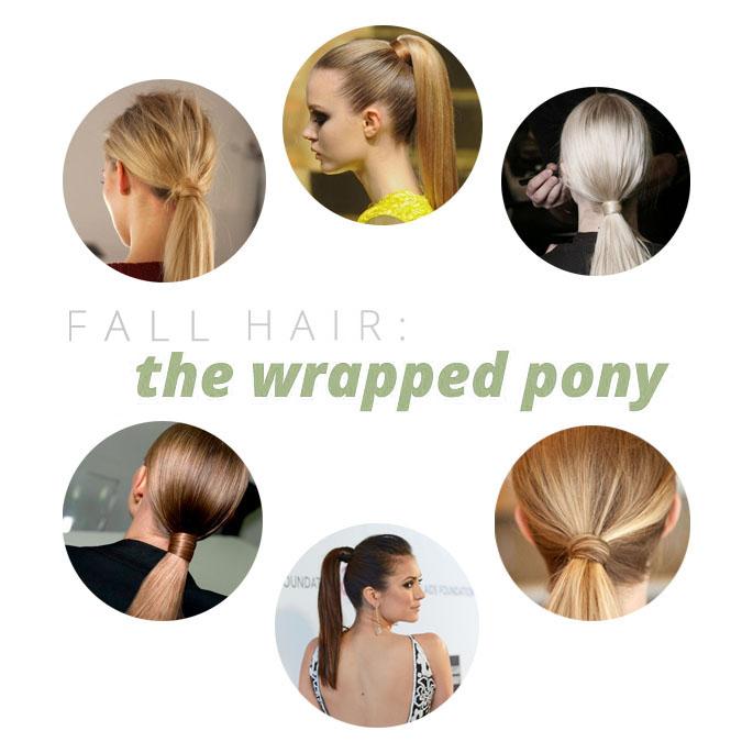 sleek messy wrapped pony