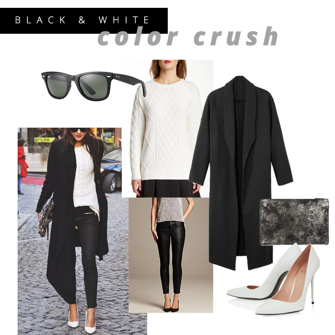 black white outfit pieces