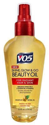 alberto vo5 shine glow and go beauty oil