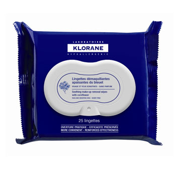klorane soothing makeup remover wipes