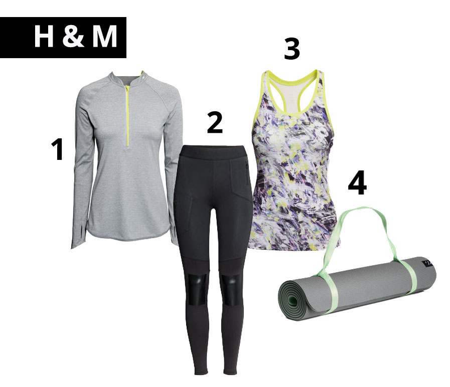 H&M active wear, H&M athletic gear, Sports, affordable sports wear
