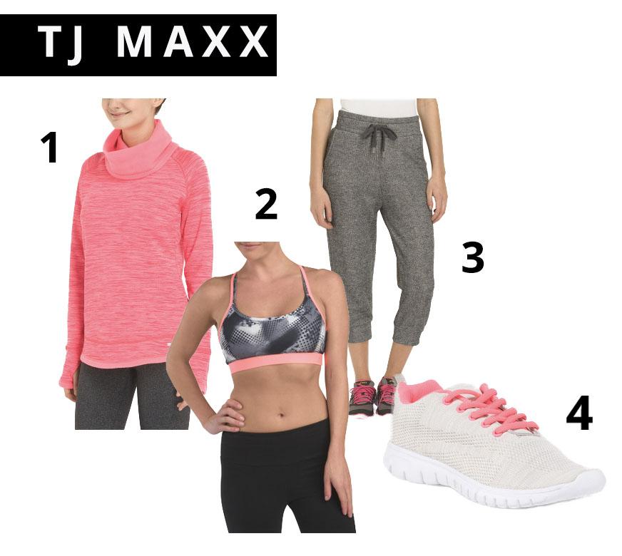 TJ Maxx Active Wear, athletic gear, Sports, affordable sports wear