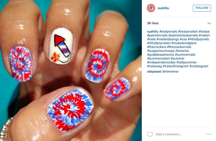 4th of july nail art inspiration patriotic nails prinsesfo Gallery