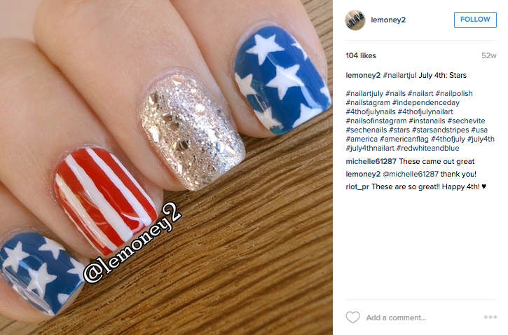 red white and blue, patriotic nails, 4th of july nails