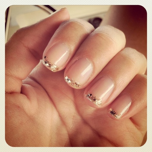 Glitter French Manicure