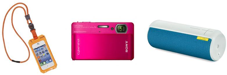 waterprood camera, waterproof phone, speakers