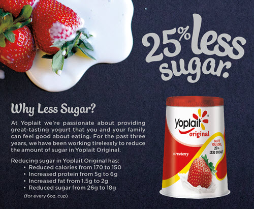 Yoplait Less Sugar