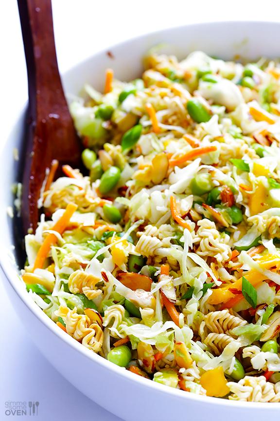 crunchy asian ramen salad