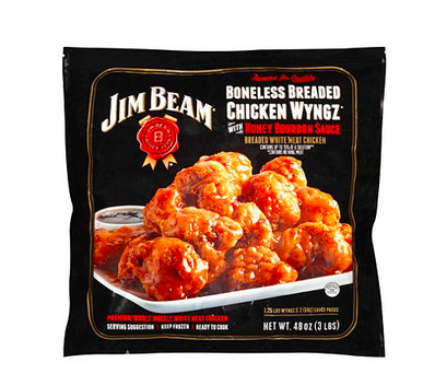 Jim Bean Boneless Breaded Chicken Wyngz with Honey Bourbon Sauce
