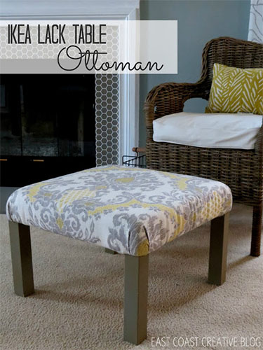 LACK side table ottoman