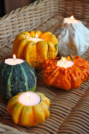 'Gourd'eous Candle Holders