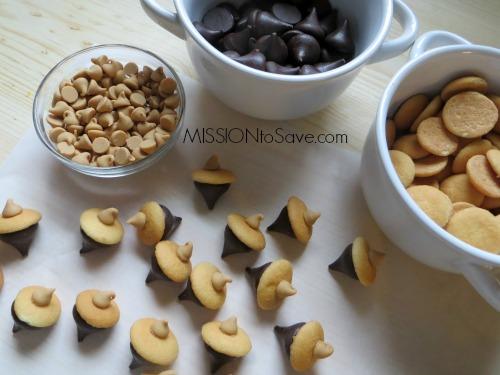 No Bake Peanut Butter Acorn Cookies