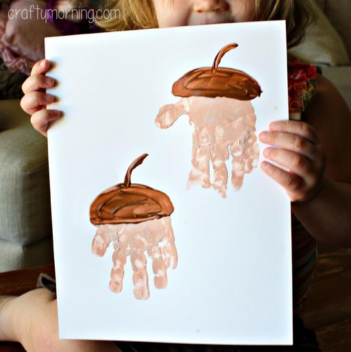 Handprint Acorns