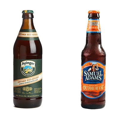 Ayinger Oktoberfest and Sam Adams Octoberfest