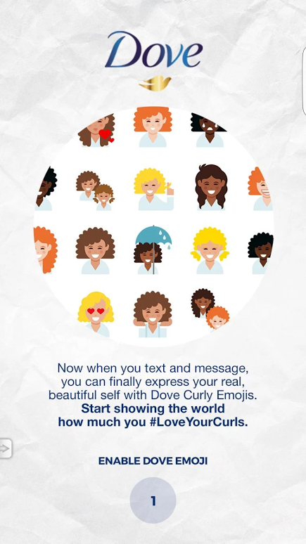 Dove Love Your Curls Emojis Keyboard