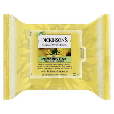 Dickinson's Original Witch Hazel Daily Refreshingly Clean Cleansing Cloths